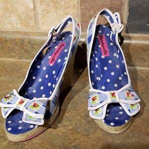 Betseyville Jute Wedge Sandals w/ Cherries!!